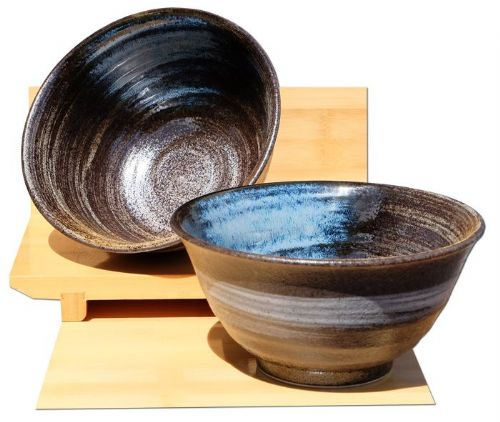 Coastal Waters ceramic bowls Japanese for two
